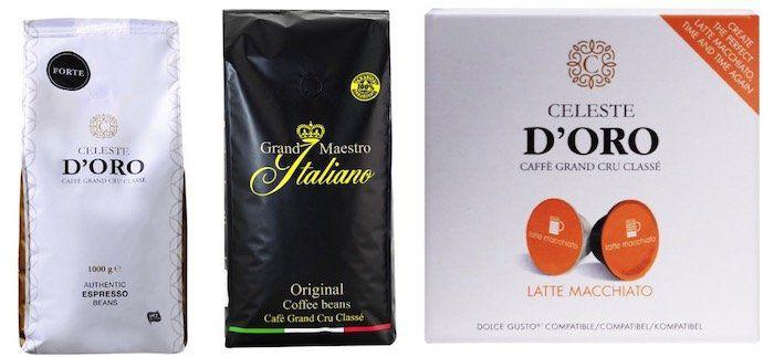 Kaffeevorteil: 10€ Rabatt auf Celeste d'Oro und Grand Maestro Italiano ab 50€ + keine VSK