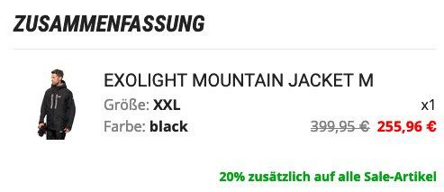 Jack Wolfskin Exolight Mountain Hardshell Jacke für 255,96€ (statt 320€)