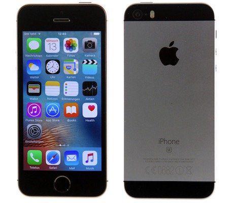 iPhone SE mit 16GB Spacegrey als Gebrauchtware für 99€   mit 12 Monaten Garantie!