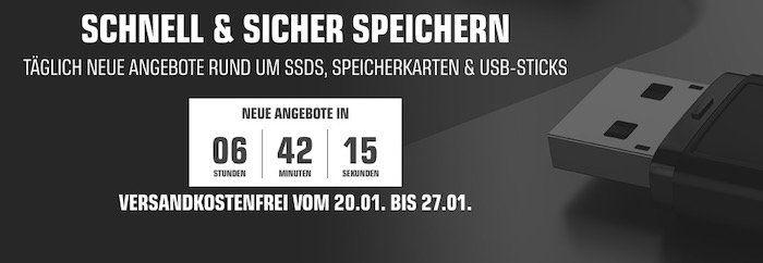 Bis 20 Uhr: Saturn Speichertage mit vielen Deals   z.B. Sandisk Ultra 128GB für 13€ (statt 22€)
