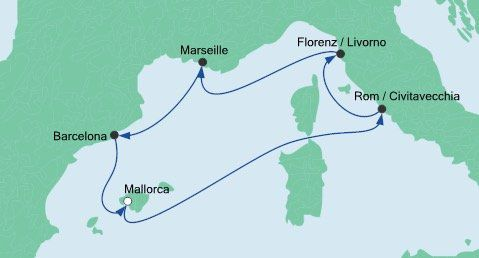 8 Tage AIDAsol Mittelmeer Kreuzfahrt inkl. Vollpension ab 249€ p.P.