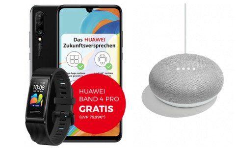 Huawei P30 lite + Band 4 Pro + Home Mini für 4,95€   mit Telekom Allnet mit 18GB LTE50 für 32,99€ mtl.
