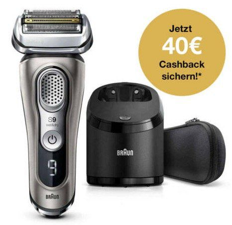 Braun 9365CC Rasierer mit Reinigungsstation für 239,99€ (statt 300€) + 40€ Cashback