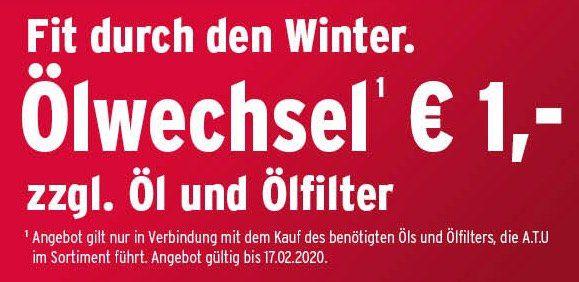 🔥 Ölwechsel für 1€ bei A.T.U. zzgl. Öl + Ölfilter   mit Trick auch komplett kostenlos