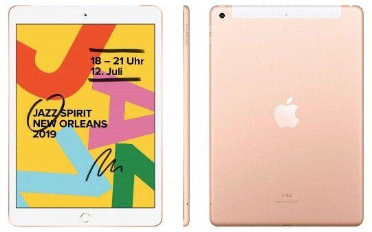 Apple iPad 10,2 2019 mit 32GB als WiFi in Gold für 311€ (statt 325€) Neuware