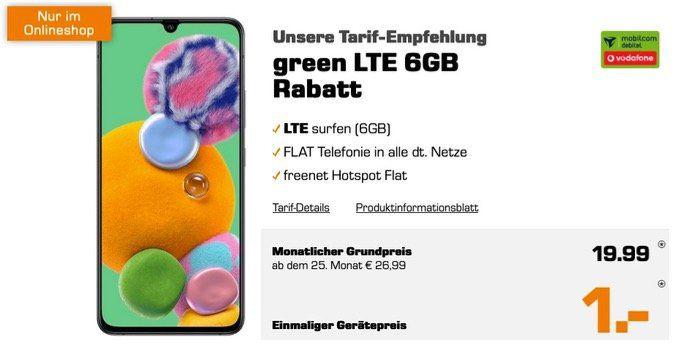 Samsung Galaxy A90 5G mit 128GB für 1€ + Vodafone Flat mit 6GB LTE50 für 19,99€ mtl.