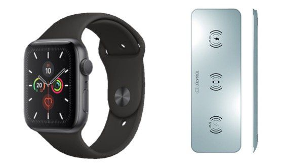 Apple Watch 5 GPS 44mm Alu in Spacegrau + TERRATEC ChargeAir für 459€ (statt 509€)