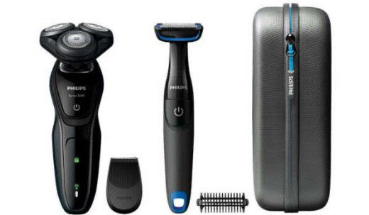 Philips AquaTouch S5082/64 Nass  und Trocken Elektrorasierer mit Bodygroom für 59,99€ (statt 90€)