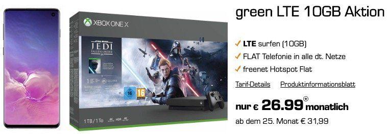 🔥 Samsung Galaxy S10 + Xbox One X Star Wars für 99€ + Vodafone Flat mit 10GB LTE für 26,99€mtl.