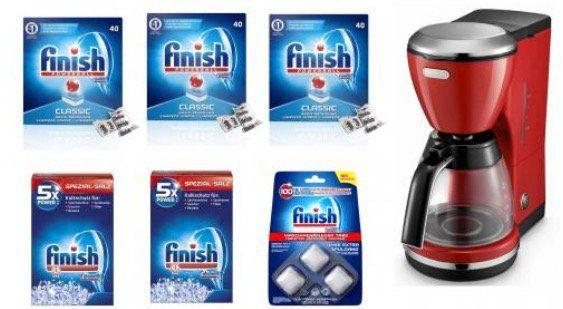 Finish Vorratspack (Tabs, Salz und Pfleger) + DeLonghi Kaffeemaschine für 34,99€ (statt 65€)