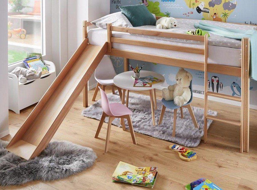 Bessagi Kinder Spielbett mit Rutsche ab 139,30€ (statt 173€)