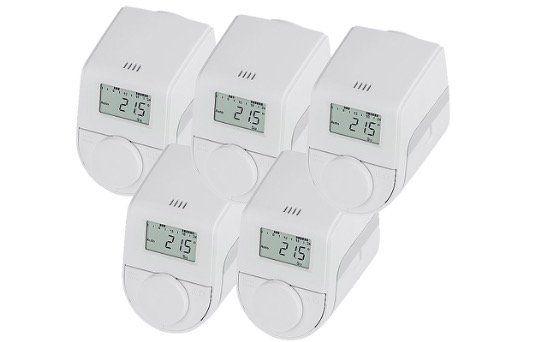 Ausverkauft! 5er Set eqiva Model Q Heizkörperthermostate für 19,89€ (statt 47€)