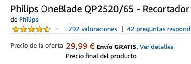 Philips Oneblade Qp2520/65 Barttrimmer mit 3 Aufsätzen + Reisetasche für 33,84€ (statt 49€)