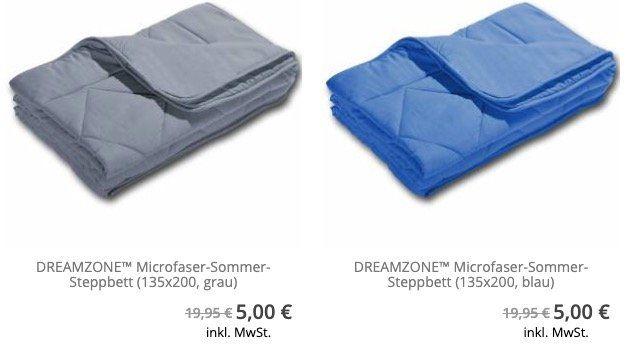 Dreamzonet Microfaser Sommer Steppbett (135x200cm) ab nur 5€ (statt 22€)