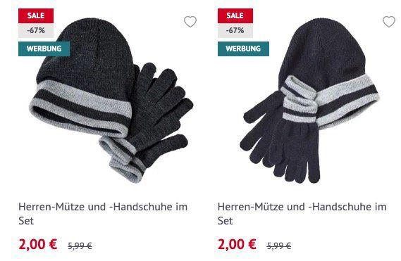 NKD: Wintermützen und Handschuhe für je 1€ oder im Set für 2€   Lieferung in Filiale