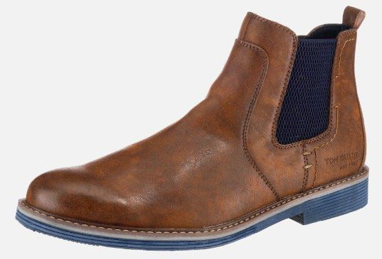 Tom Tailor Herren Chelsea Boots für 25,19€ (statt 45€)