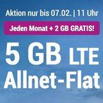 o2 Allnet-Flat mit 5GB LTE von Simply für 7,99€ mtl. + monatlich kündbar