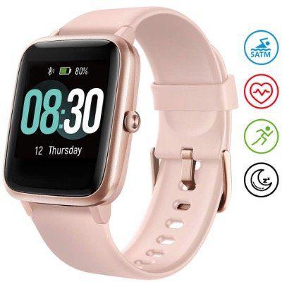 Umidigi Uwatch 3 BT 5.0 Smartwatch mit Herzfrequenzsensor in Rosa für 26,99€ (statt 45€)