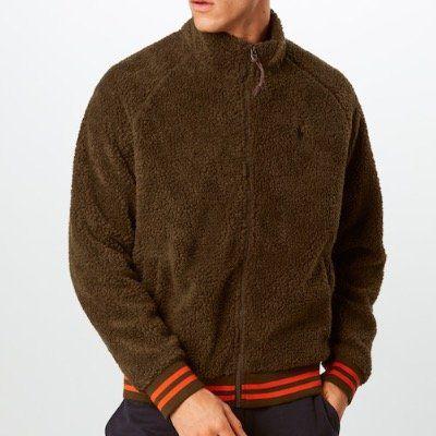 Polo Ralph Lauren Teddyjacke Vintage Sherpa in Braun für 90,30€