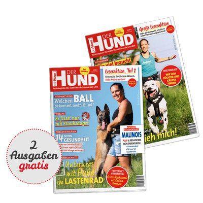 2 Ausgaben vom Der Hund Magazin kostenlos dank Kennenlernangebot