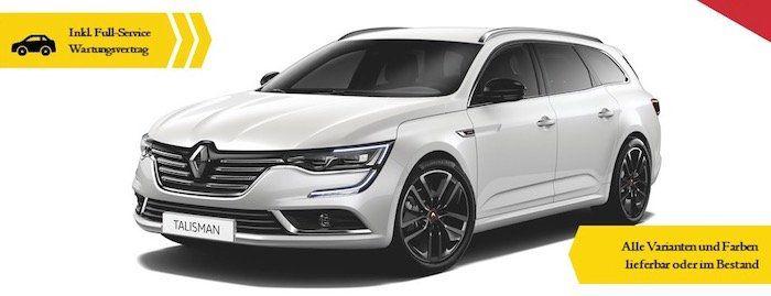Renault Talisman S Edition mit 224 PS im Gewerbeleasing für 197,82€ mtl.   LF: 0,44
