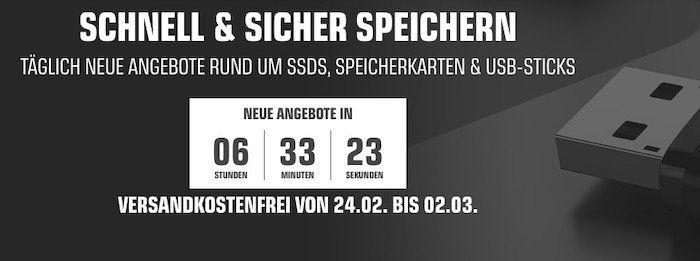 Bis 20 Uhr: Saturn Speichertage mit vielen Deals   z.B. SANDISK Ultra Fit 256 GB für 29€ (statt 37€)