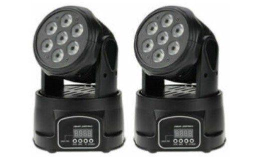 2er Pack Lixada 105W 7 LED DMX 512 Mini Moving Head mit 9/14 Kanal für 81€ (statt 91€)