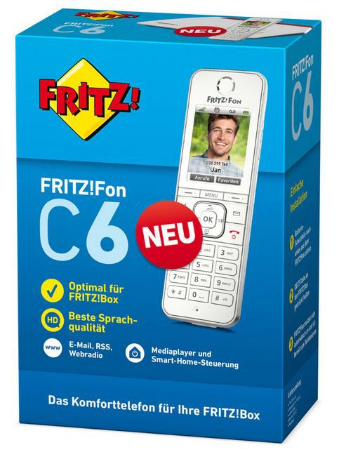 AVM FRITZ!Fon C6 DECT Telefon für 55,25€ (statt 69€)
