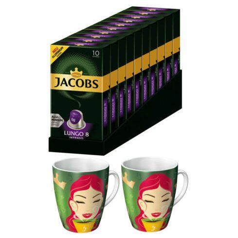 JACOBS Lungo Intenso 100 Nespresso Kaffeekapseln für 19,90€ (statt 23€) + 2 gratis Ritzenhoff Becher (je 300ml)