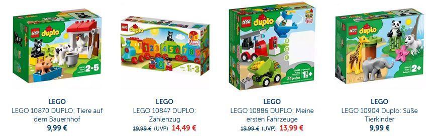 myToys:  LEGO Duplo mit 15% extra Rabatt bis Mitternacht!