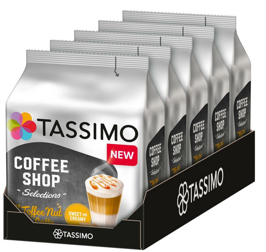 Tassimo Toffee Nut Latte als 40er T Disc Set für 19,95€ (statt 28€)