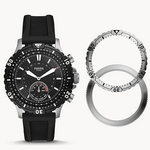 """Fossil Herren Hybrid Smartwatch """"Garret"""" mit Silikonarmband für 99€ (statt 199€)"""