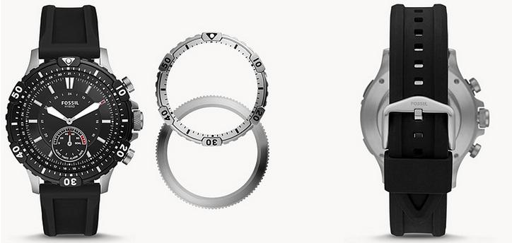 Fossil Herren Hybrid Smartwatch Garret mit Silikonarmband für 99€ (statt 199€)