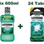 Listerine Mundwasser 6 x 600ml + 6 x 4er Listerine Go! Kautabletten für 22,90€ (statt 40€)