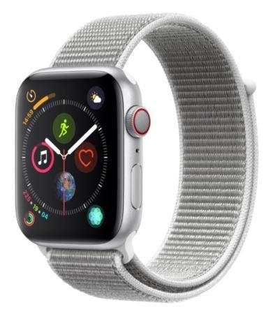 Apple Watch Series 4 LTE 44mm Aluminiumgehäuse Silber für 377,33€ (statt 425€)