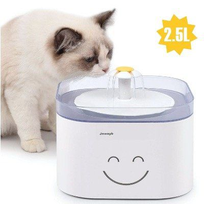 Jnwayb automatischer Katzen Wasserspender mit 2,5 Litern und Aktivkohlefilter für 12,14€ (statt 27€)
