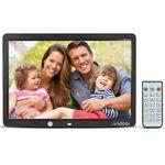 Andoer 15″ LCD Bilderrahmen (1280×800) mit Kalender-Uhr & Fernbedienung für 33,20€ (statt 83€)