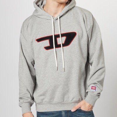 DIESEL Sweatshirt S DIVISION D in Grau für 59,93€ (statt 94€)
