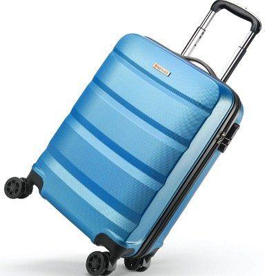 Abgelaufen! Rexleo ABS Hartschalen Reisekoffer mit 360° Doppelrollen in 35 Liter für 22,99€ (statt 46€)