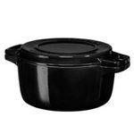 KitchenAid KCPI40CROB Gusseisen-Bräter 24cm in Schwarz für 54,90€ (statt 107€)
