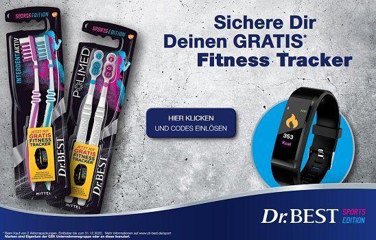 Dr. BEST Zahnbürsten kaufen und einen kostenlosen Fitness Tracker erhalten