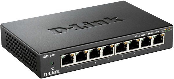 D Link 8 Port Gigabit Switch (DGS 108) für 18,99€ (statt 27€)