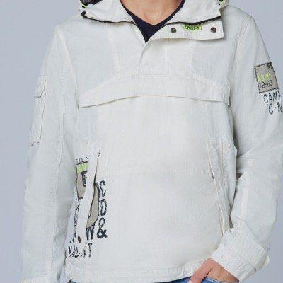 CAMP DAVID Jacke in Naturweiß in S bis XL für 39,96€ (vorher 130€)