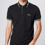"BOSS Polo-Shirt ""Paul Curved"" in Schwarz für 44,92€ (stat 90€)"