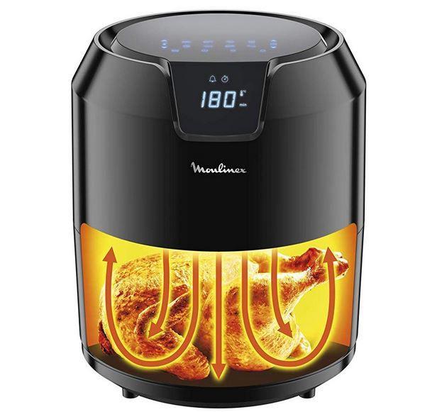Ausverkauft! Tefal Moulinex EZ4018 Heißluftfritteuse Easy Fry Precision 4,2l mit Grillfunktion für 77€