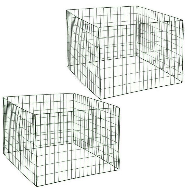 Metall Gartenkomposter 2er Set 90x90x70 cm für 28,95€ (statt 36€)