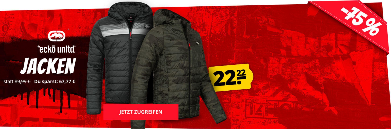 Ecko Unltd. ausgewählte Herren Jacken ab 22,22€ (statt 49€)