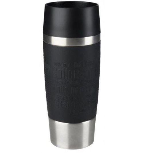 Emsa Travel Mug schwarzer Isolier Trinkbecher 0,36L für 13,99€ (statt 18€)