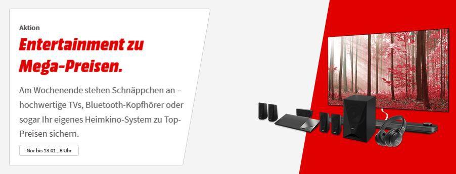 Media Markt Entertainment zu Mega Preisen: z.B. YAMAHA RX V683 AV Receiver (7.2 Kanäle, Schwarz) für 399€ (statt 499€)