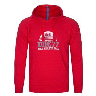 Asics MS Graphic Herren Hoody in Rot für 16,07€ (statt 23€)   nur S, M, L